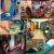 アウトドア用品大人のキャンバスハックシングルルームのバルコニーに厚手のベット吊り椅子と寮のブランコのペアブルー