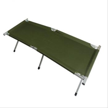 ベルグリース・ユンホ鋼管ベッド折り畳み式ベッド寝椅子オフィス昼休みベッドシングル・キャンバス屋外旅行小行軍ベッド昼寝床0.8厚全アルミニウムモデル