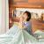 パクサンの造物水洗綿旅行汚い寝袋ホテルを挟んで、大人旅行の汚さ防止布団セットのベッド付きのシングルの携帯ホテルの旅行神器A種類の幼児用の布地の濃い緑の藤のつるのシングル80*210 cm