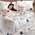 Departure屋外旅行洗濯綿寝袋汚い寝袋を挟んで、大人二人の携帯用の汚いシーツ旅行用品セットDP 04。トナカイのシングル幅は115*210 cmです。