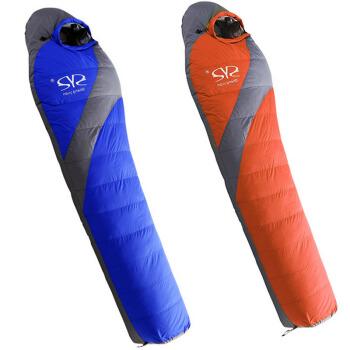屋外寝袋キャンプミイラ羽毛羽毛布団寝袋は、マイナス20度の厚さで保温したキャンプ寝袋をつなぎ合わせることができます。