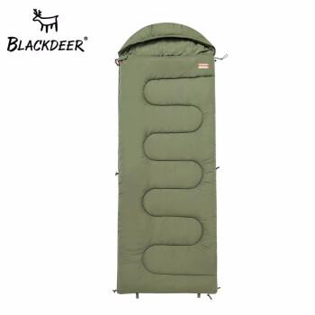 黒鹿屋外春夏保温寝袋旅行キャンプは二人の携帯型大人綿寝袋オリーブグリーンをつなぎ合わせることができます。
